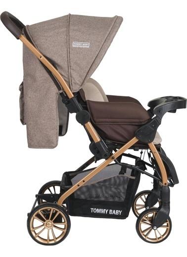 Tommy Baby Tb-980 Gold Çift Yön Lüx Bebek Arabası Puset Kahve